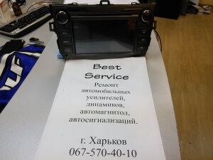 Штатник Toyota Corolla не работает GPS и флешка