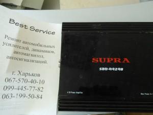 Автоусилитель Supra SBD4240 - не включается. Спален канал усилителя