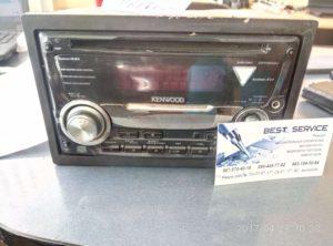 Магнитола Kenwood DPX502U - на экране надпись Protect