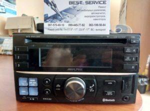 Магнитола Alpine CDE-W235BT - нет звука, замена усилителя