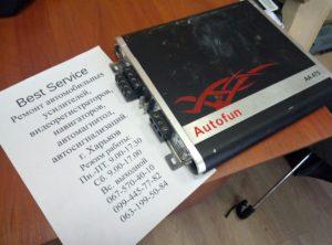Усилитель Autofun AA475 - в защите, не работает при нагрузке