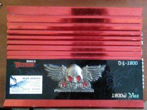 Усилитель Power Acoustik D4-1800 - фон в динамиках, пропадает звук