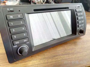 Китайская магнитола штатник на Android для BMW - белый экран, не включается