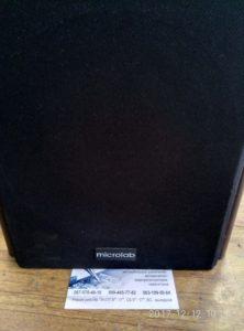 Ремонт домашней акустики Microlab SOLO 3 - нет звука в одной колонке, фон в динамиках