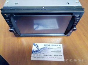 Магнитола Mystery MDD-6280 не показывает экран, нет изображения, белый экран