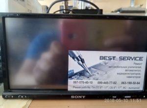 Автомагнитола Sony XAV-E722 - разбит сенсор, замена тачскрина