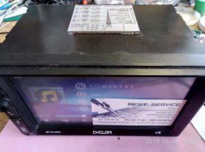 Автомагнитола Cyclon MP-7014GPS - не включается, пропал звук