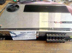 Усилитель автомобильный Audio System Twister F4-260 - фон при заведенном двигателе