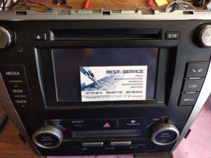 Штатная магнитола Toyota Camry 50 - нет звука